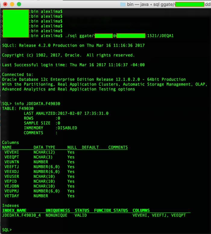 sqlCl